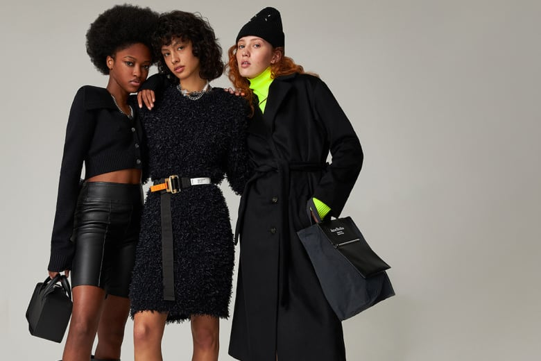 Proudly Introducing END. Womenswear for AW21 - Models wear Vetements, Off-White, Heron Preston, Acne Studios