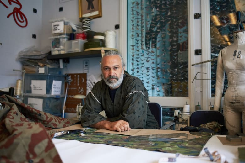Maharishi's Hardy Blechman in his Soho studio space