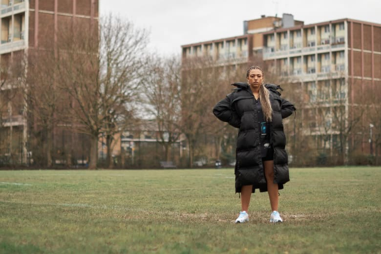 Mahalia wears Moncler x Craig Green in Bethnal Green