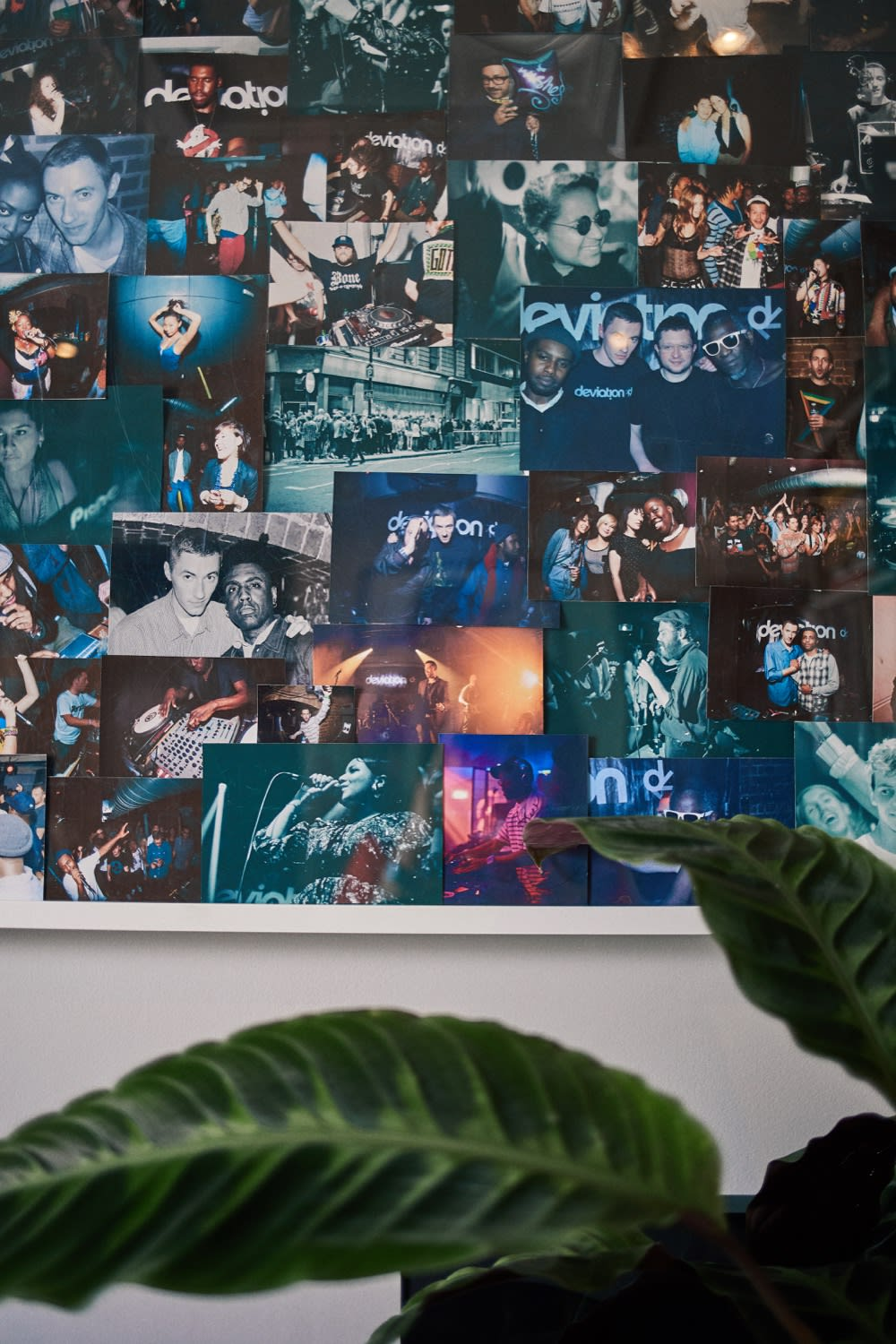 Deviation image collage in Benji B's London office shot by END.