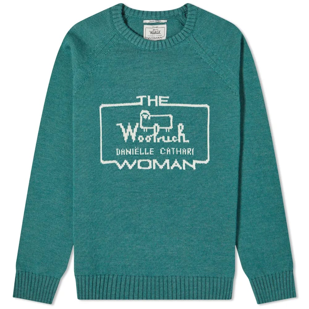 Daniëlle Cathari x Woolrich Logo Merino Jumper