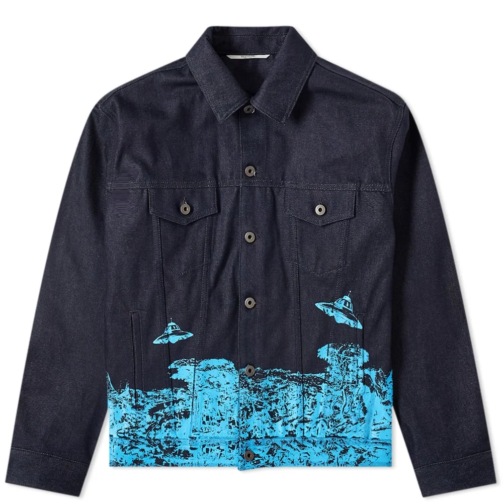 Valentino x Undercover Time Traveller Printed Denim Jacket