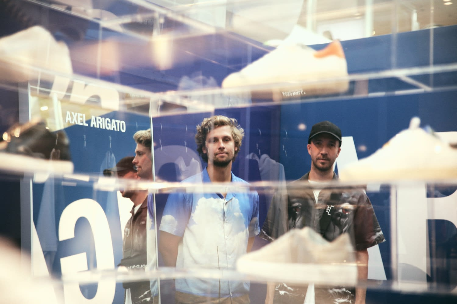 Max Svardh and Albin Johansson of Axel Arigato in their pop up store in NK - Axel Arigato Gothenburg City Guide