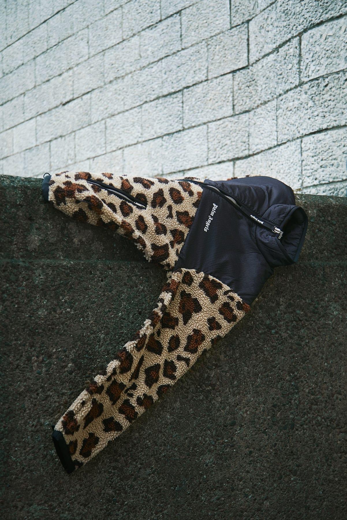 END. Required Item: Sherpa Fleece SS20: Model Wears Palm Angels Animal Sherpa Fleece Jacket