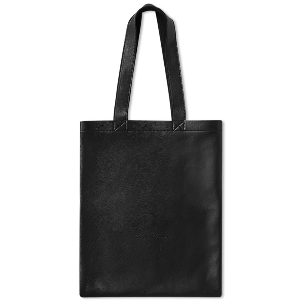Rick Owens Leather Tote Shopper