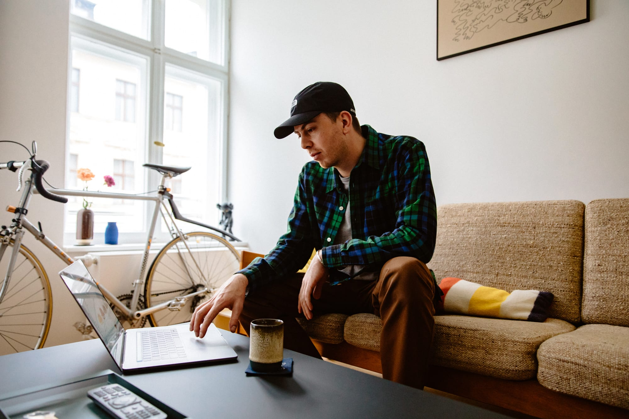 Flight Case Sneakers: Chris Danforth at home in Berlin.