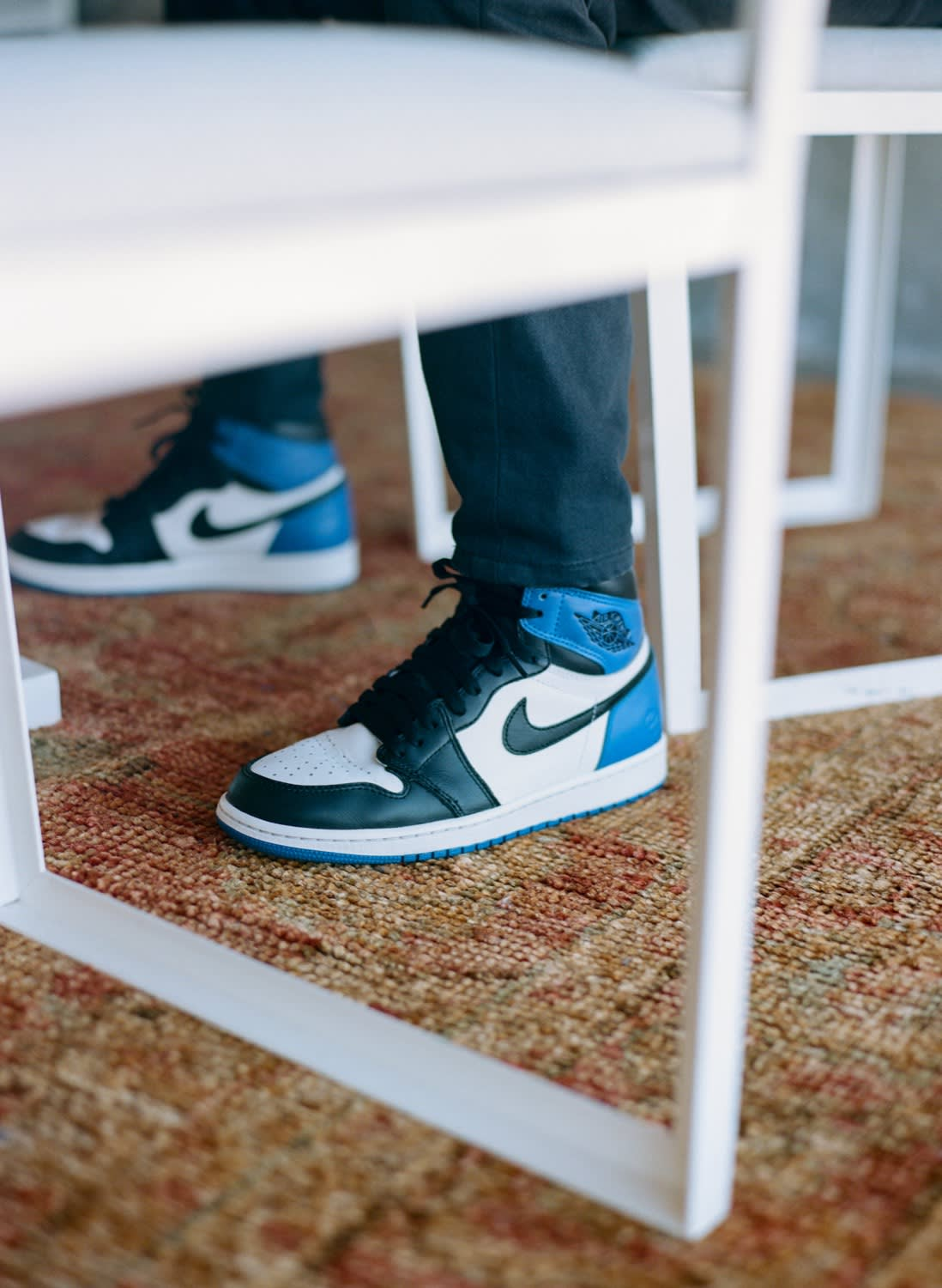 Jason Markk wearing Nike Air Jordan 1 x Fragment Style Code: 716371-040
