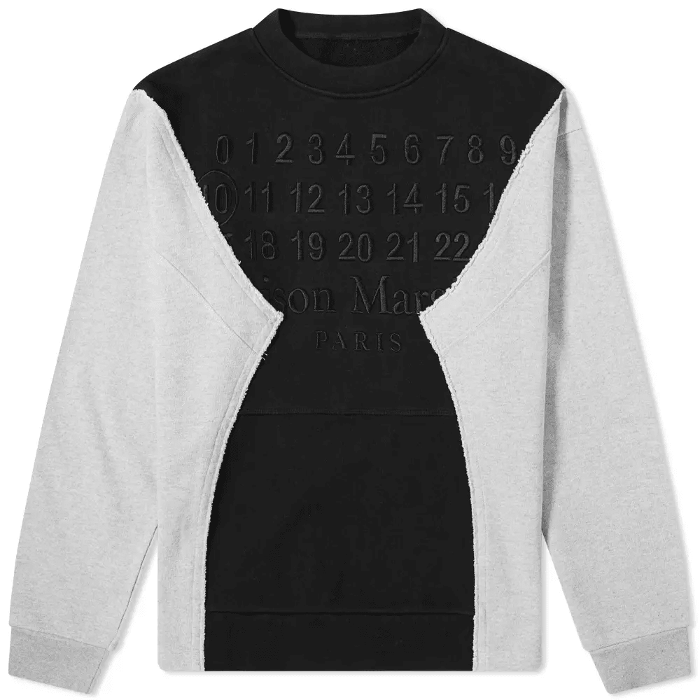 Maison Margiela 10 Cut & Sew Embroidered Logo Crew Sweat