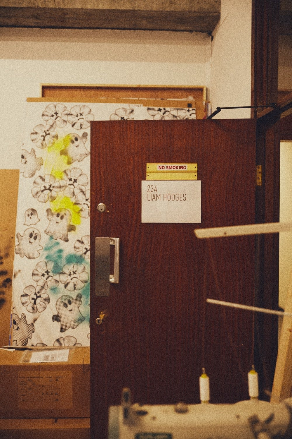 The door to Liam Hodges studio in London