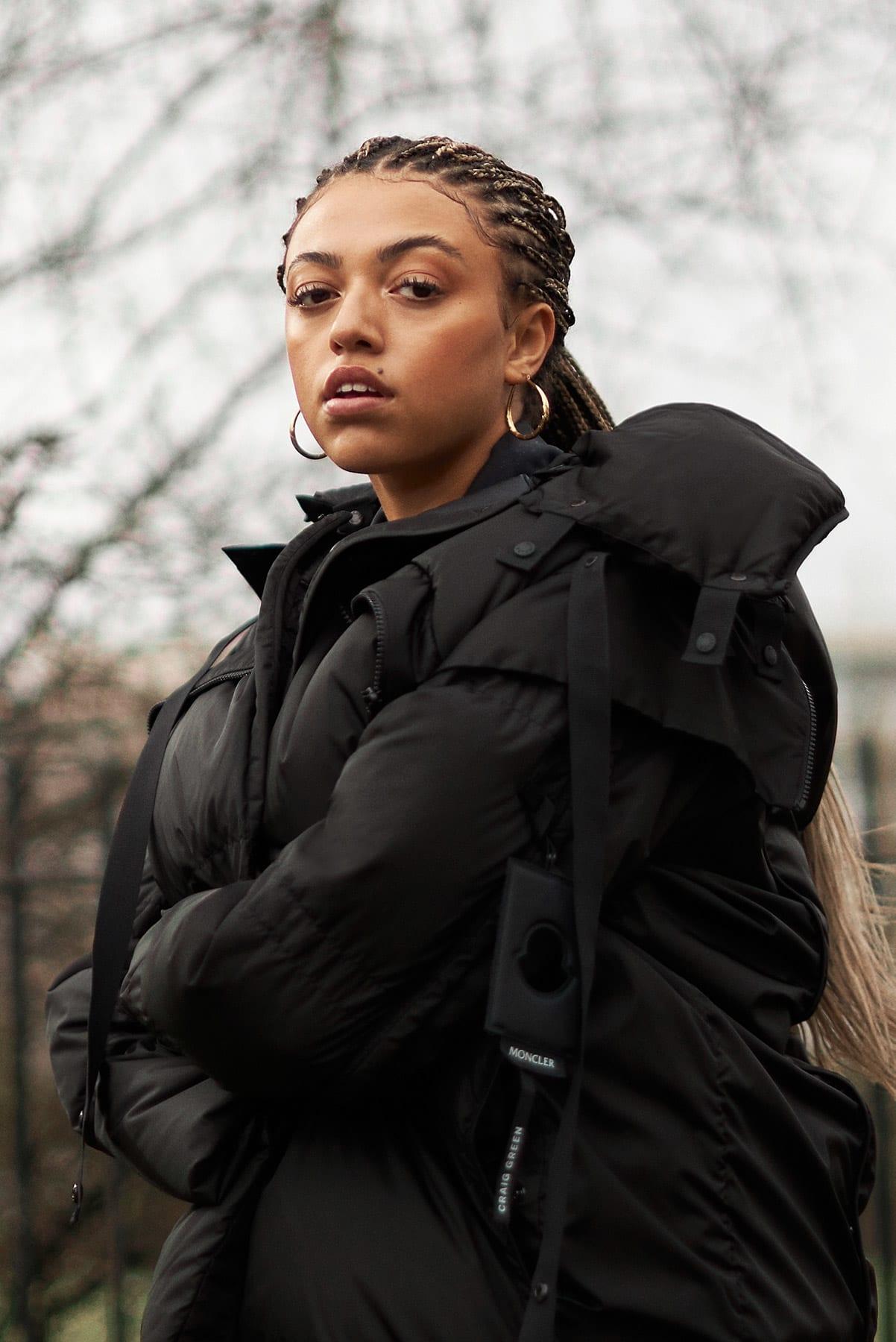 Mahalia wears Moncler x Craig Green in Bethnal Green