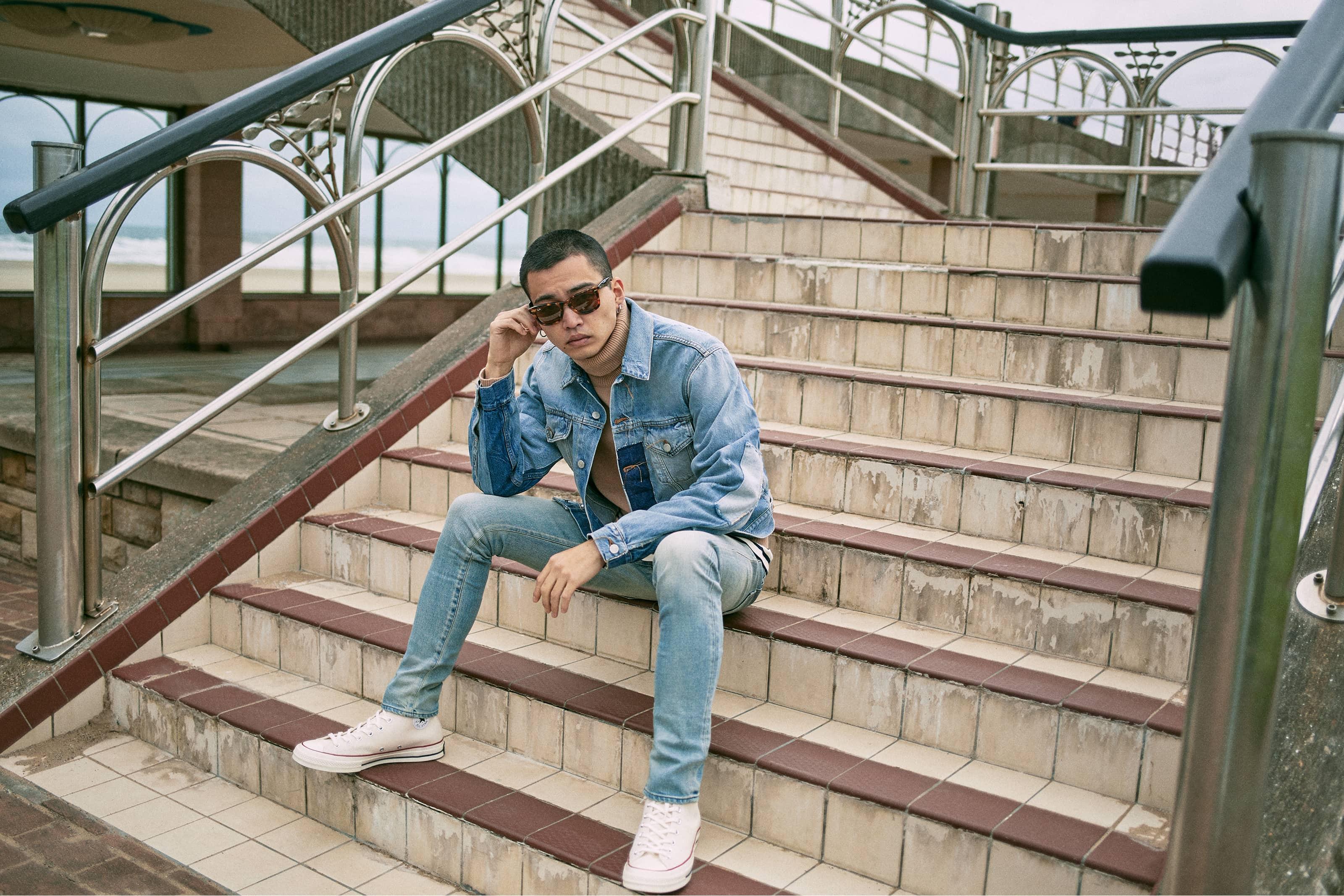 END. Required Item: Denim Jackets model wears: Acne Studios
