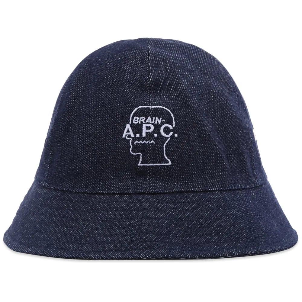 A.P.C. x Brain Dead Bob Denim Bucket Hat