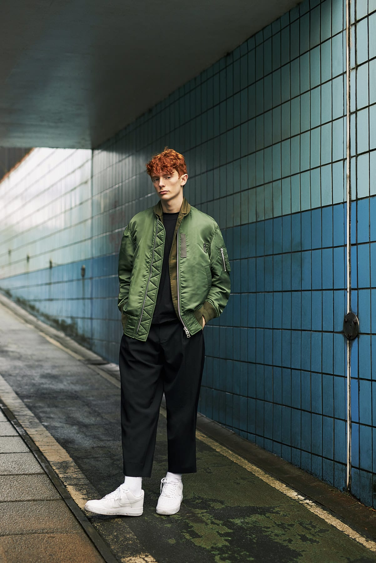 MA-1 Blouson for END.'s Sacai editorial