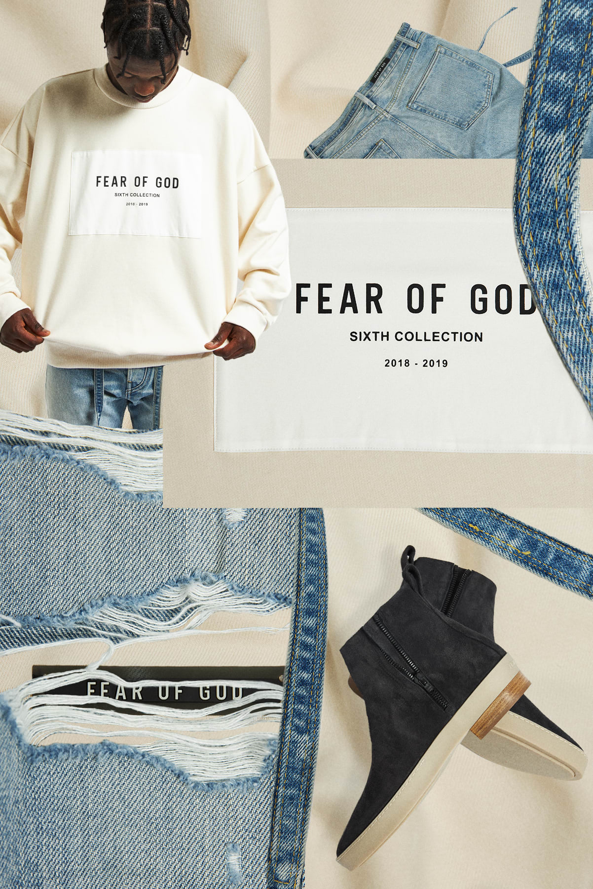 Curated 003 | Black Owned - FEAR OF GOD Slim Distressed Jean