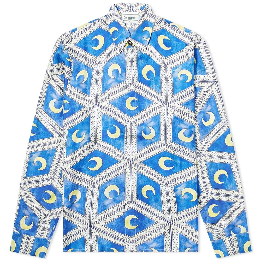 Casablanca Moonlight Tiles Silk Shirt