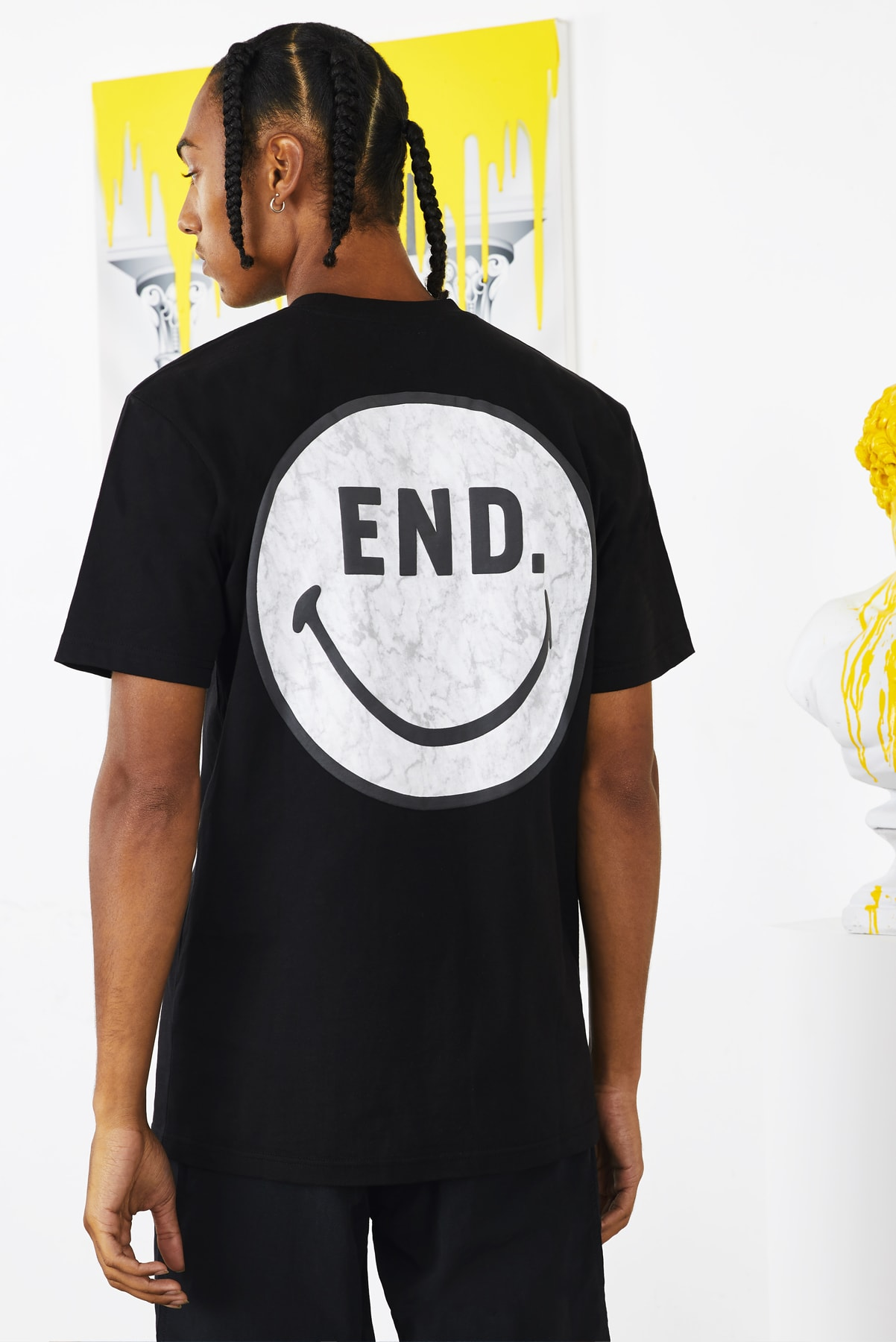 END. x Chinatown Market collaboration Smiley tee