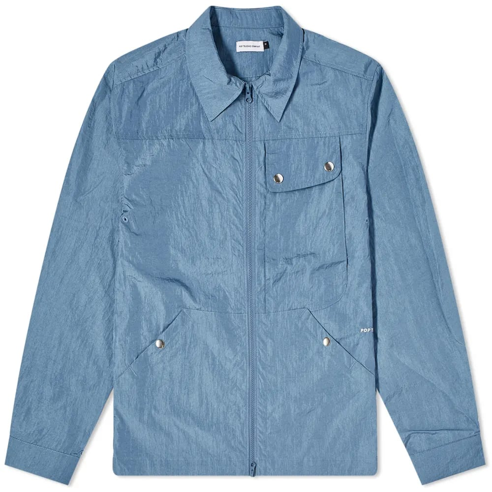 POP Trading Company Big Pocket Tech Zip Overshirt