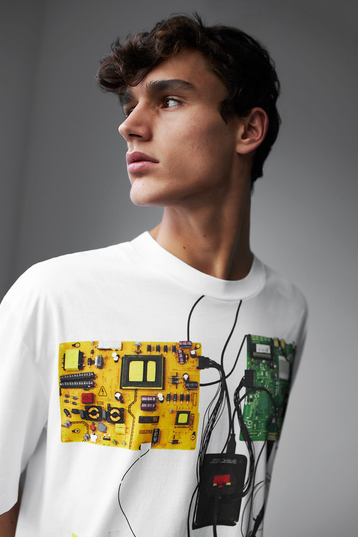 Maison Margiela's oversized circuit print tee for END. aw19