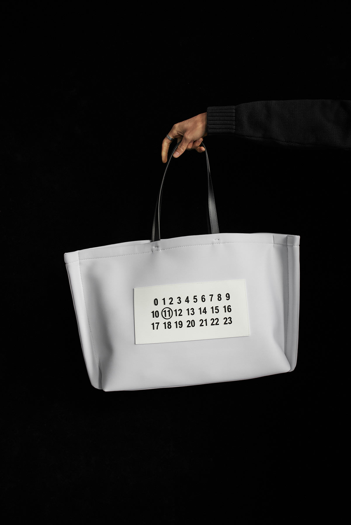 Maison Margiela's xl logo tote bag from END. AW19