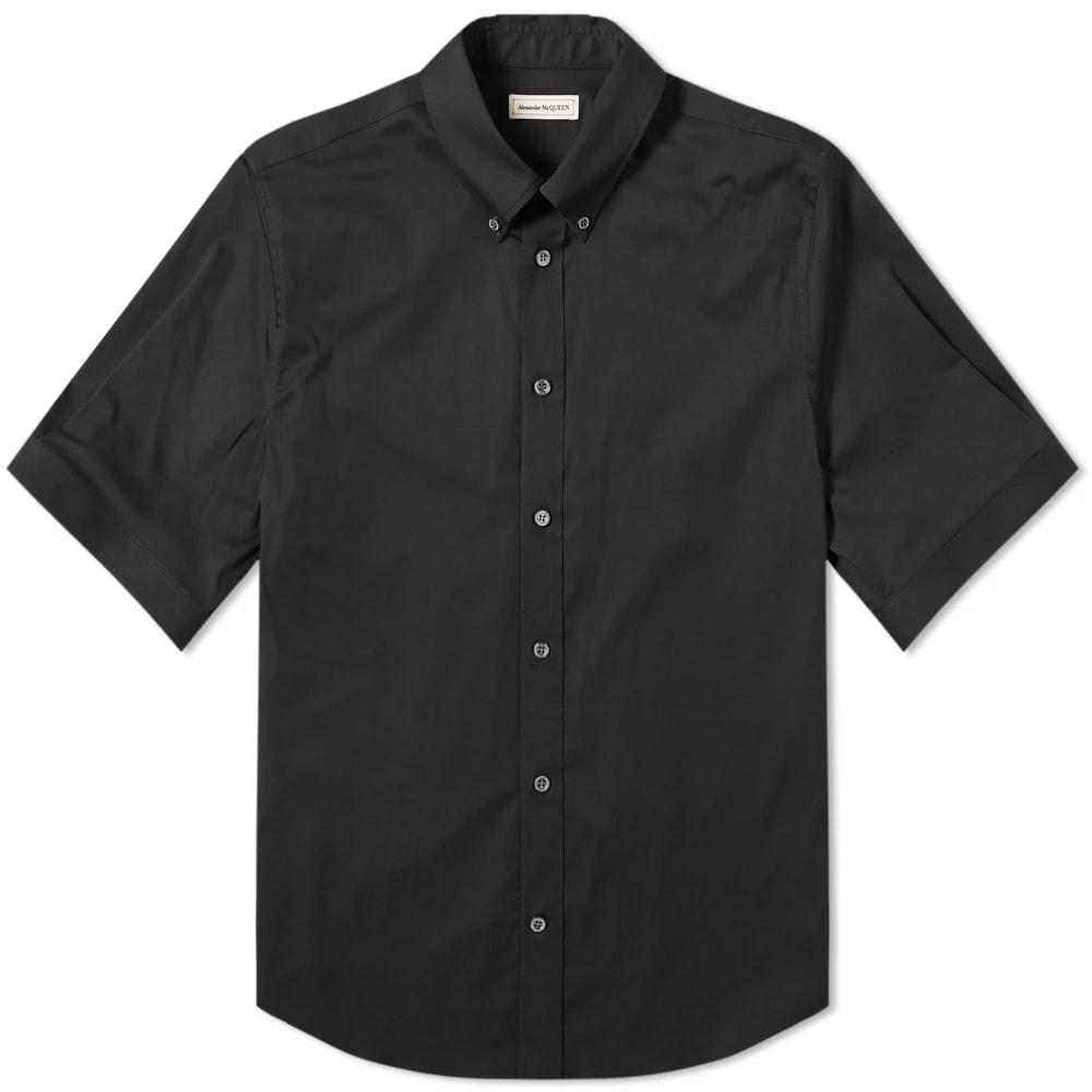 Alexander McQueen Short Sleeve Studded Collar Shirt