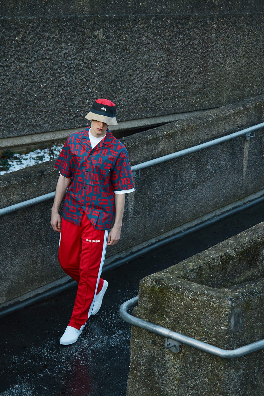 END. Required Item SS21: Track Pants - Model wears Palm Angels Track Pant