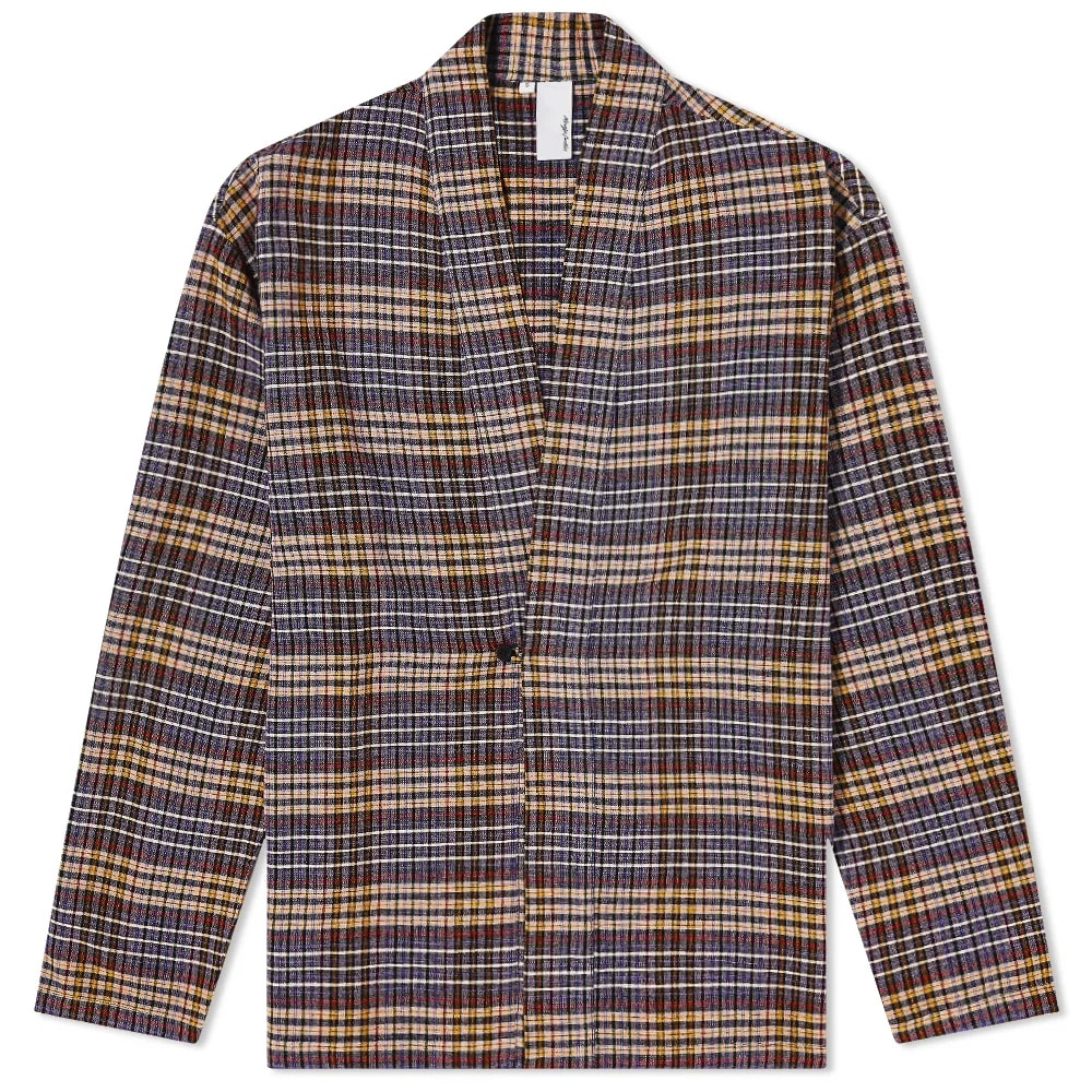 Magic Castles Check Kimono Shirt