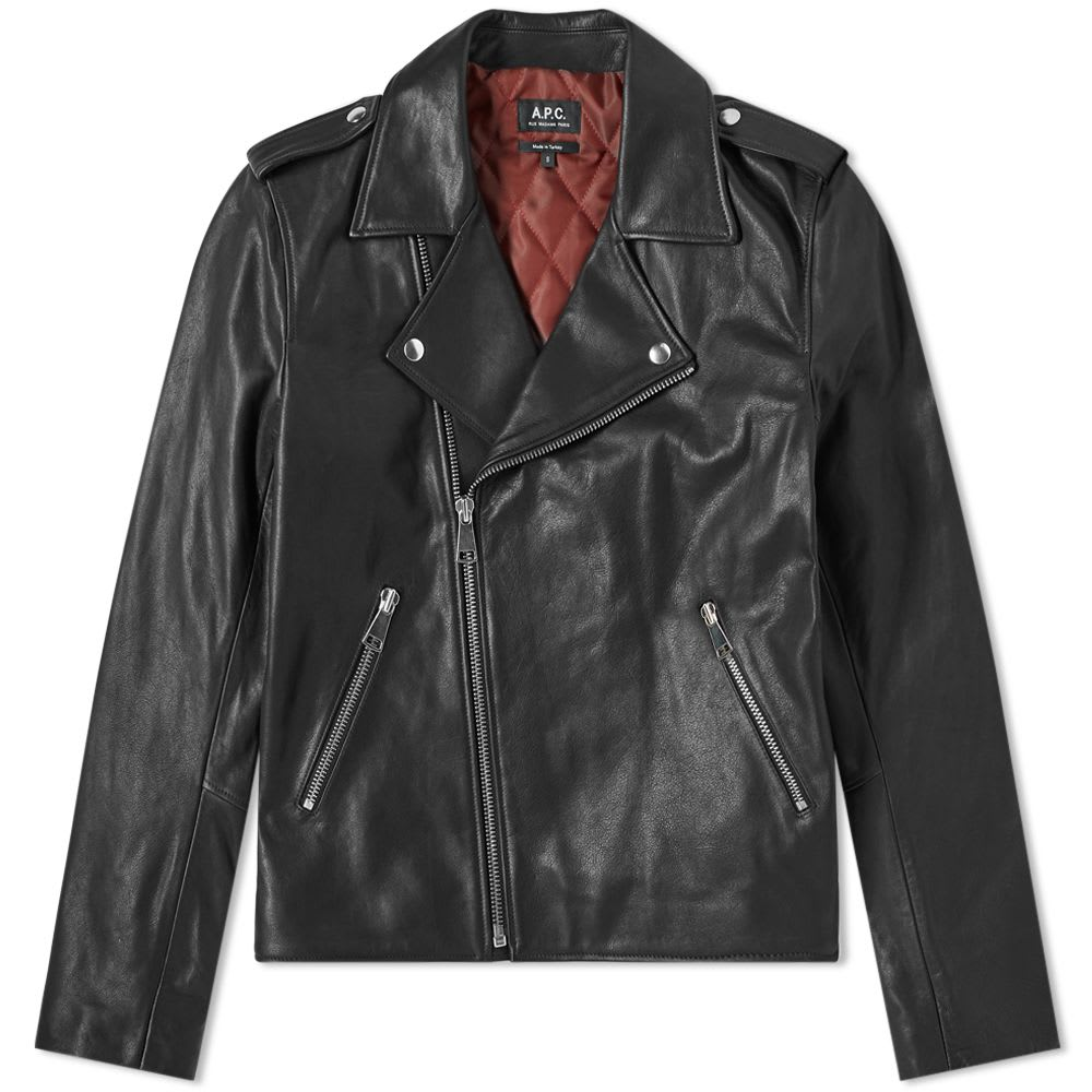 A.P.C. Perfecto Uno Leather Biker Jacket