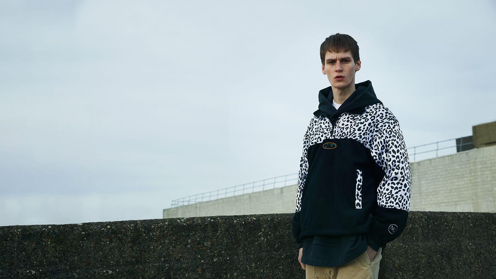 END. Required Item: Sherpa Fleece SS20: Model Wears Noon Goons Leopard Half Zip Polar Fleece