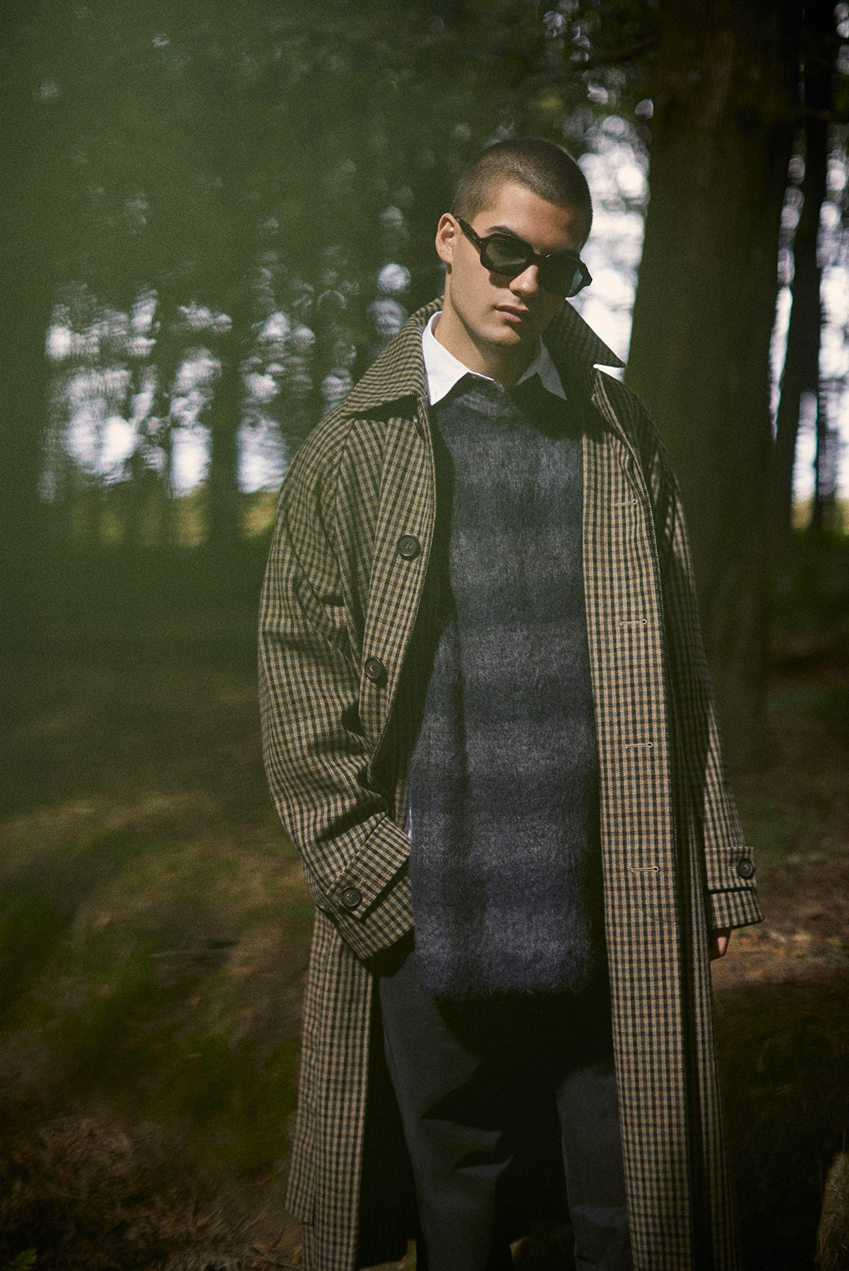 END. AW19 Required Item: Graphic Knitwear - model wears Jil Sander for END.