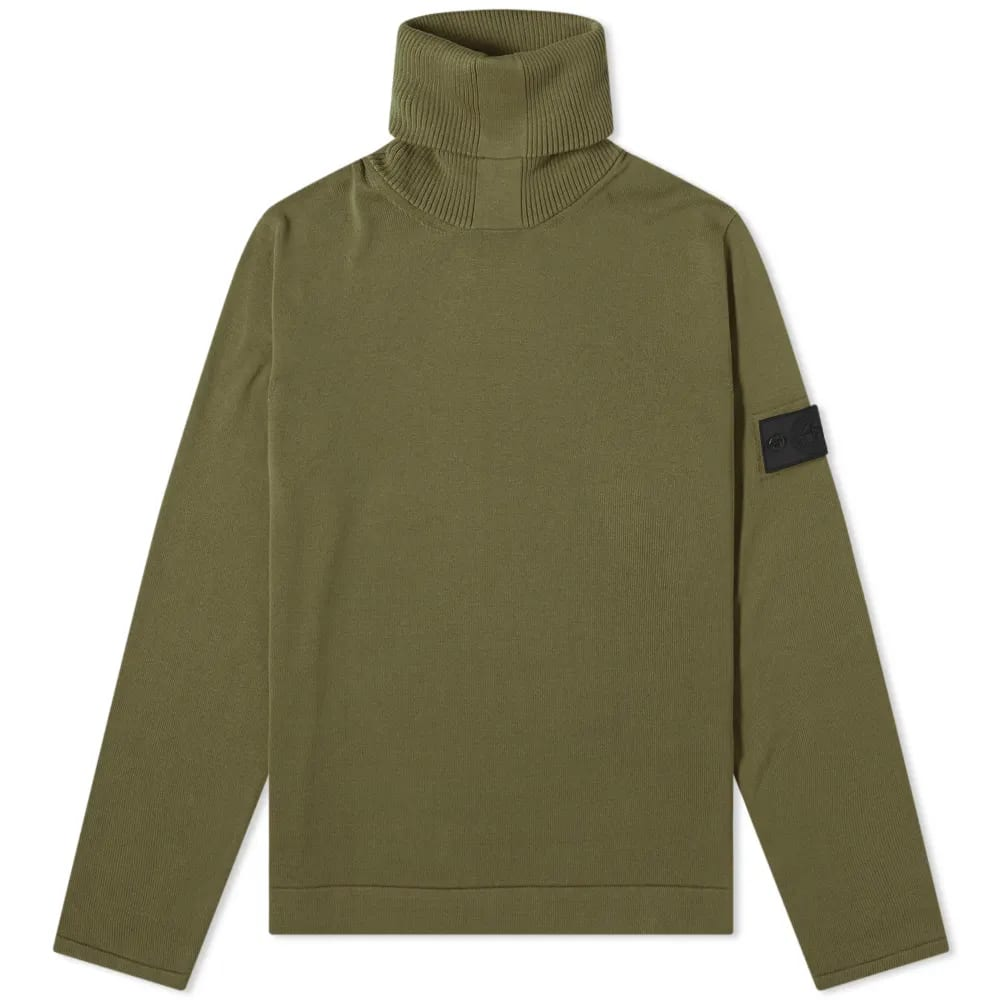 Stone Island Shadow Project Pure Cotton Roll Neck Knit