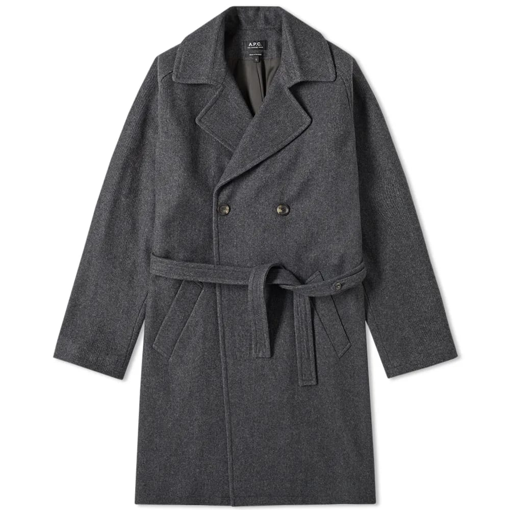 A.P.C. Double Breasted Wool Coat