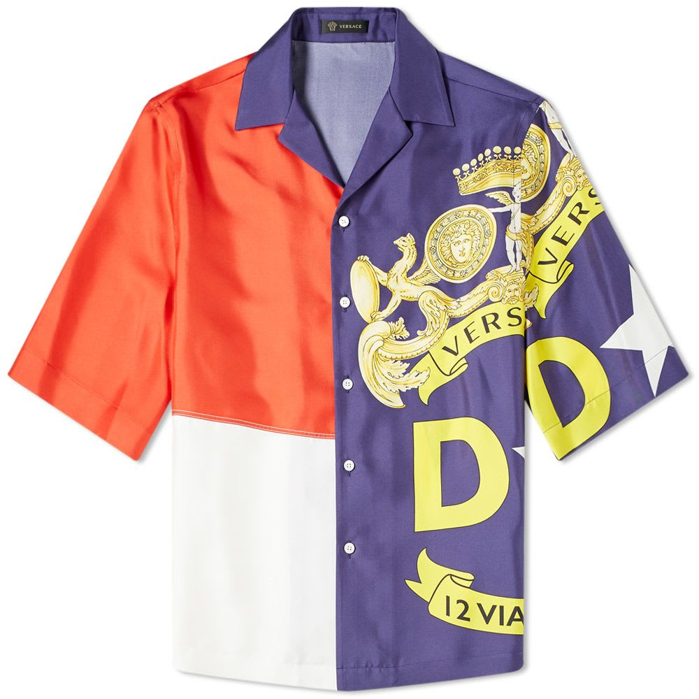Versace Flag Print Vacation Shirt