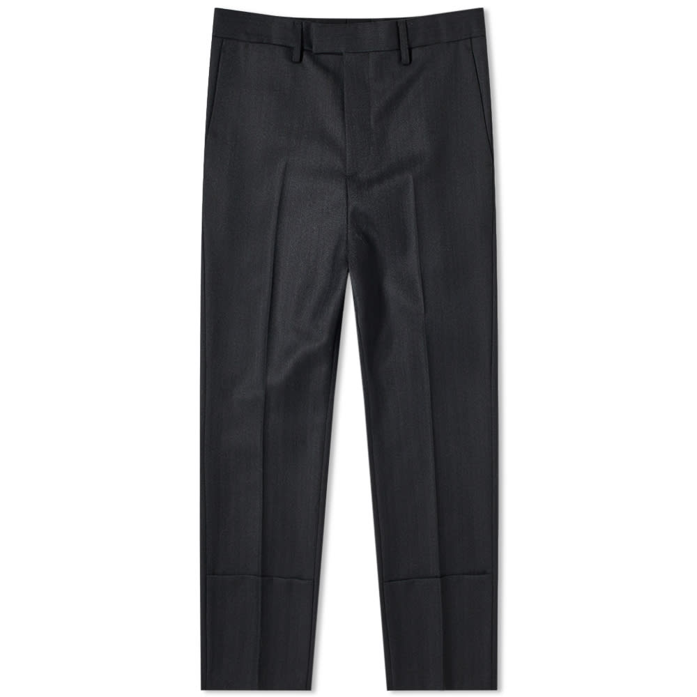 Raf Simon Slim Fit Turn Up Trouser
