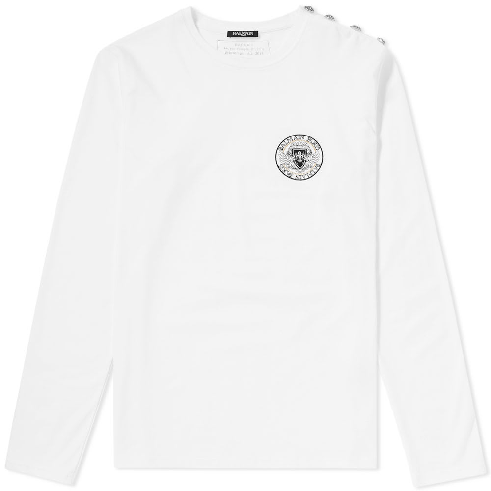 Long Sleeve Embroidered Chest Logo Tee