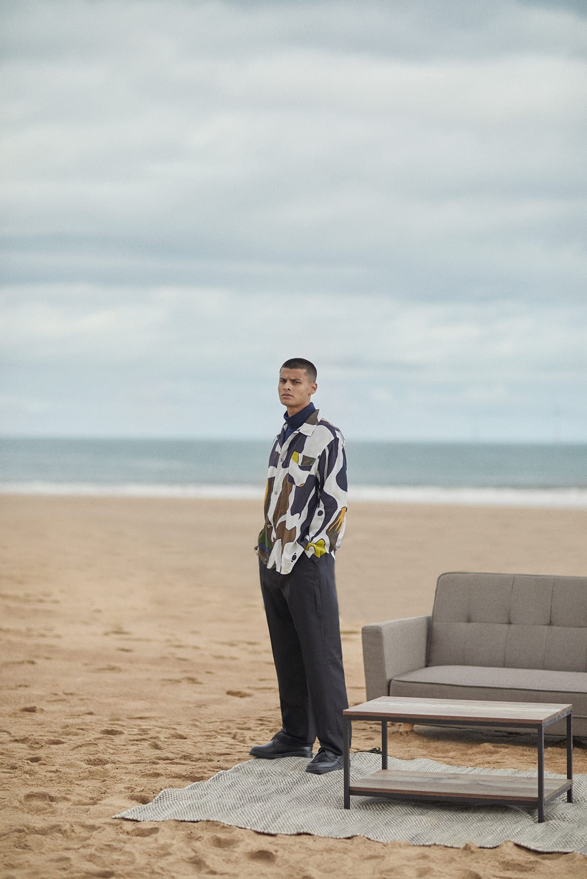 Our Legacy shirt and trousers for Bare Minimum END. editorial