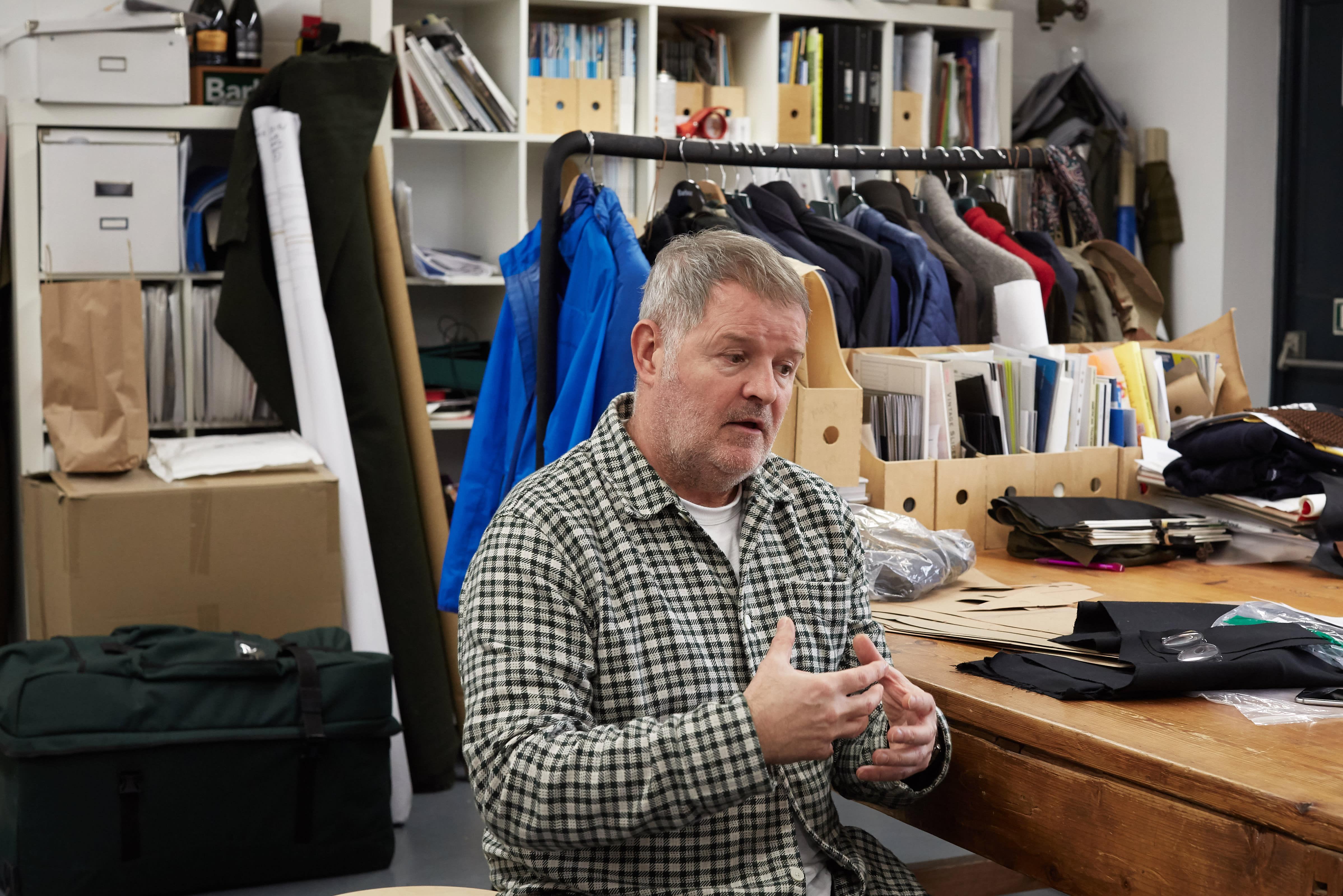 Barbour's Gary Janes in his design studio