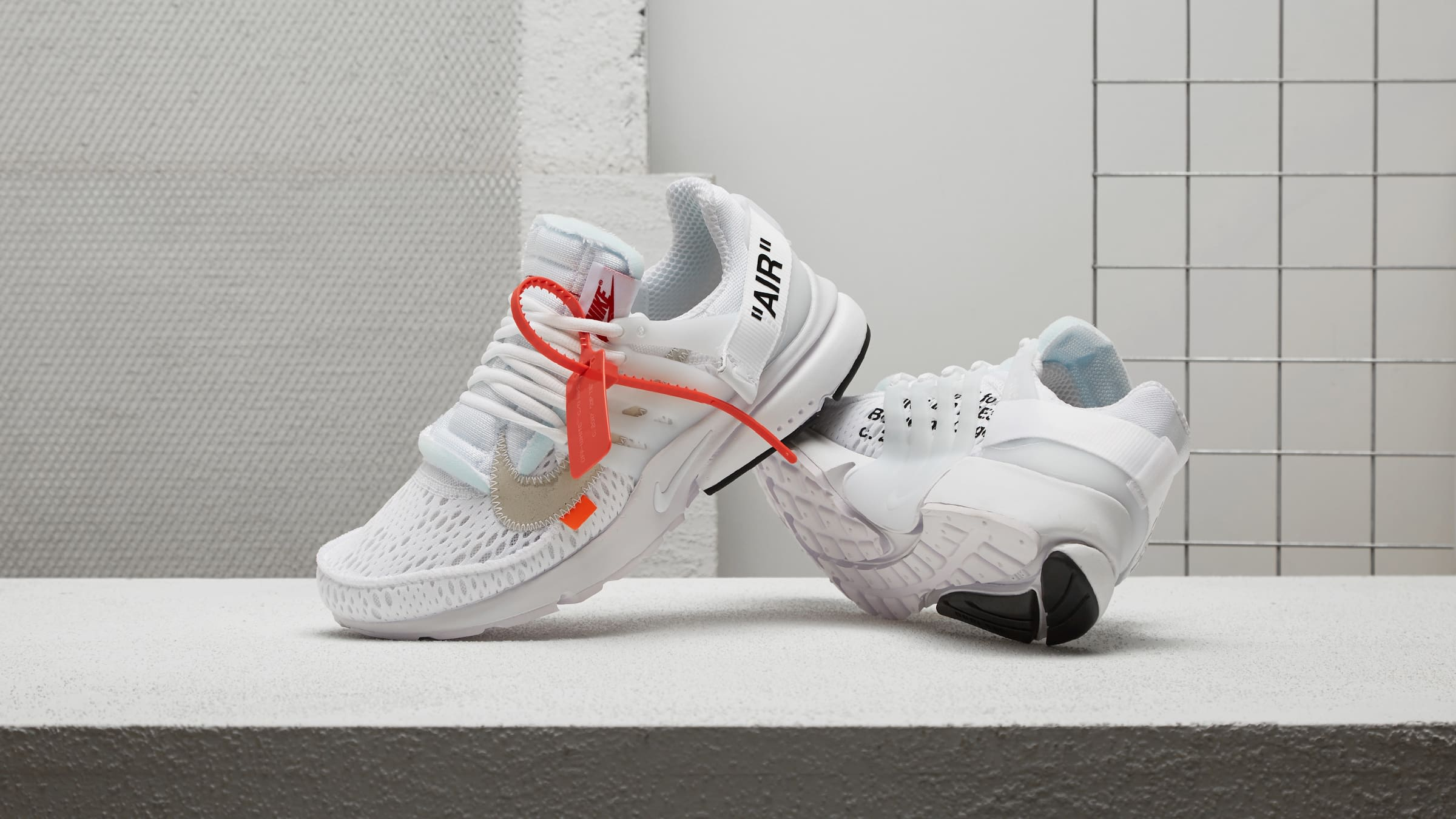 END. Features Nike x Virgil Abloh The Ten: Air Presto  Nike x Virgil Abloh The Ten: Air Presto