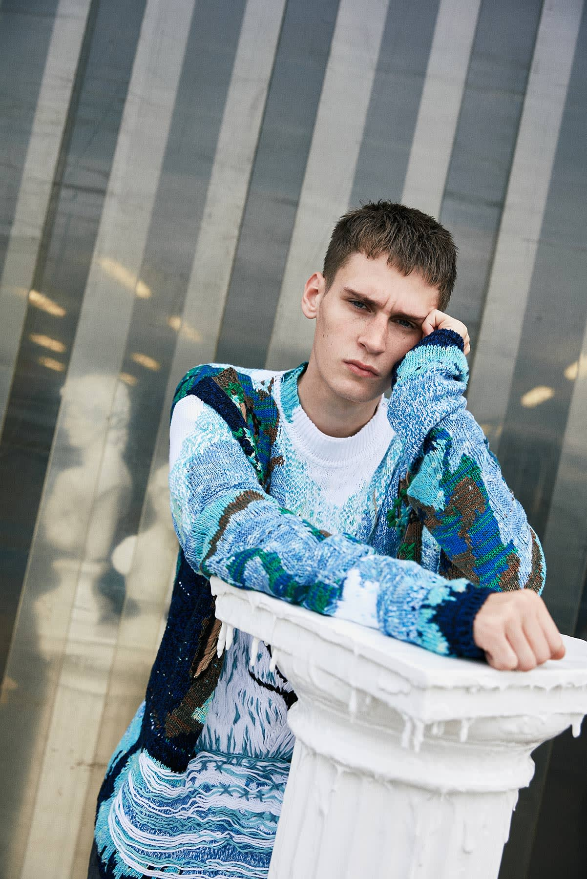 New Milan 2.0 END. AW19 Editorial .01 - Model wears Off-White