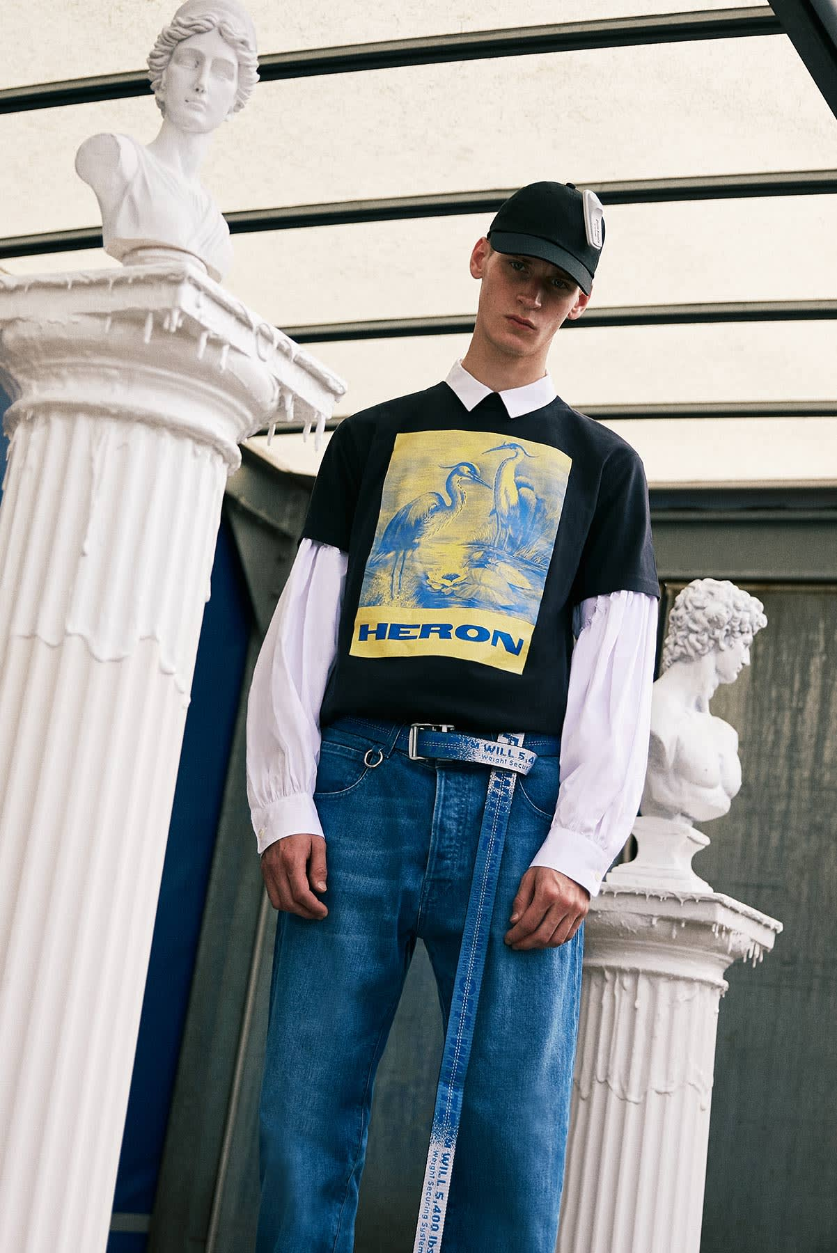 New Milan 2.0 END. AW19 Editorial .01 - Model wears Heron Preston and Palm Angels