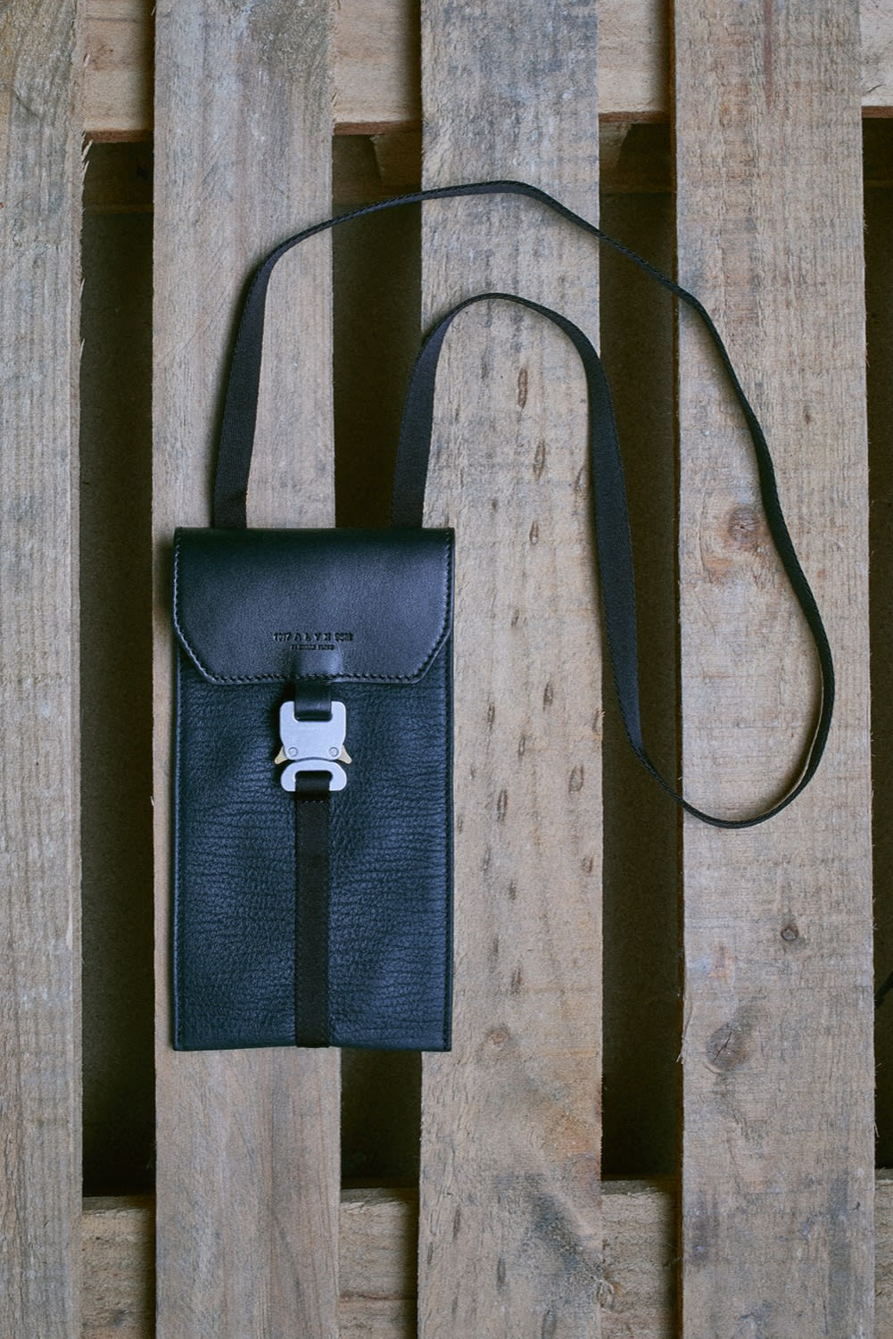 END. AW19 Required Item: Micro Bags off-model shot of 1017 ALYX 9SM Mini Buckle for END.