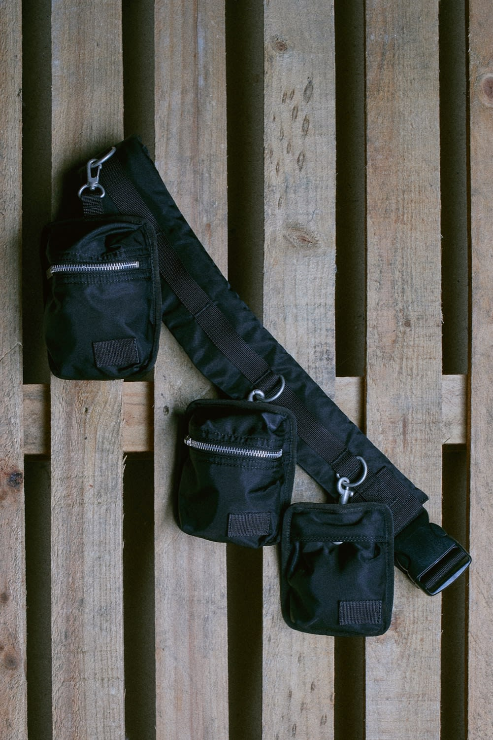 END. AW19 Required Item: Micro Bags off-model shot of the Sacai x Porter-Yoshida & Co Bag Belt by END.