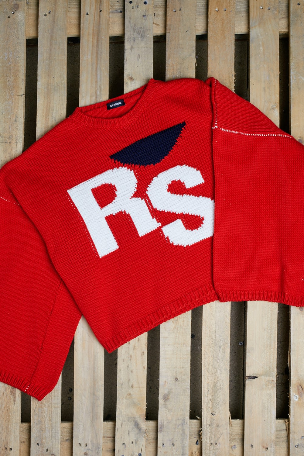 END. AW19 Required Item: Graphic Knitwear - off-model shot of Raf Simons
