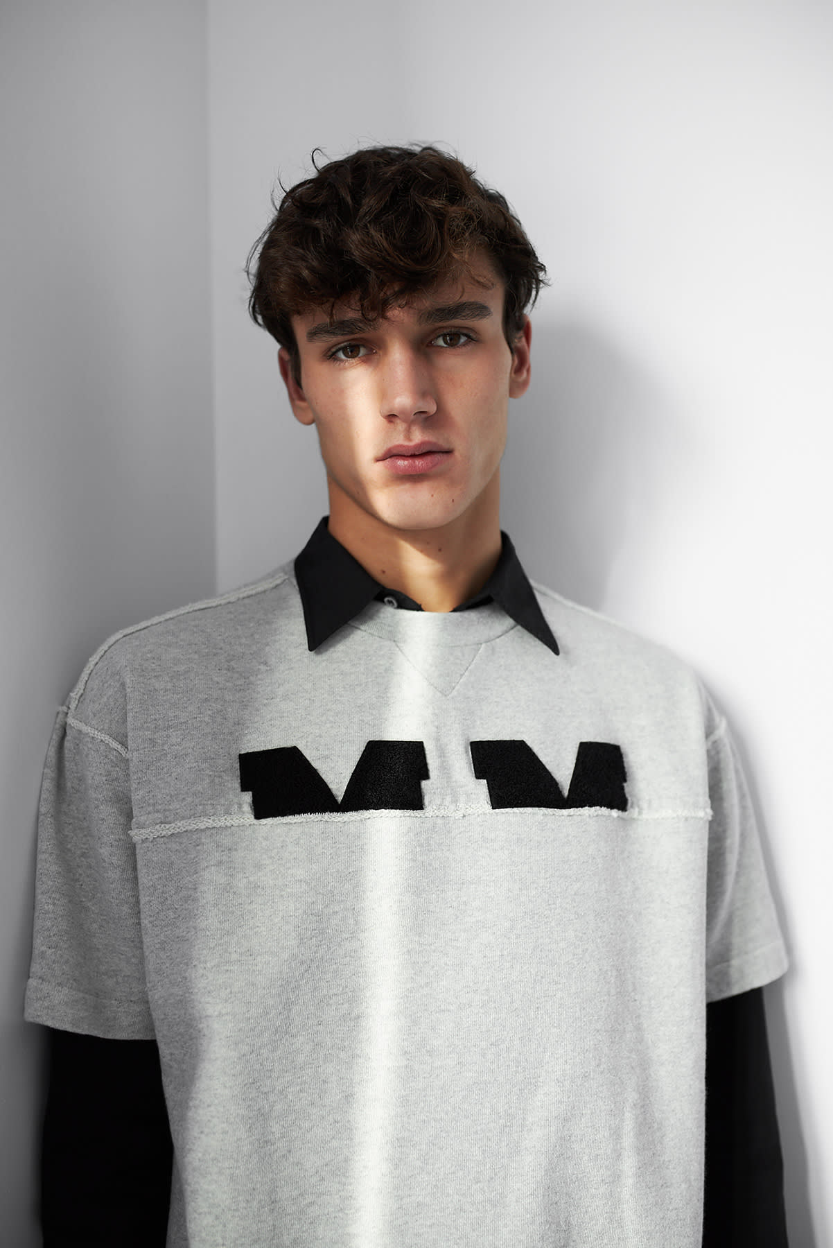 Maison Margiela's AW19 short sleeve MM logo sweat for END.