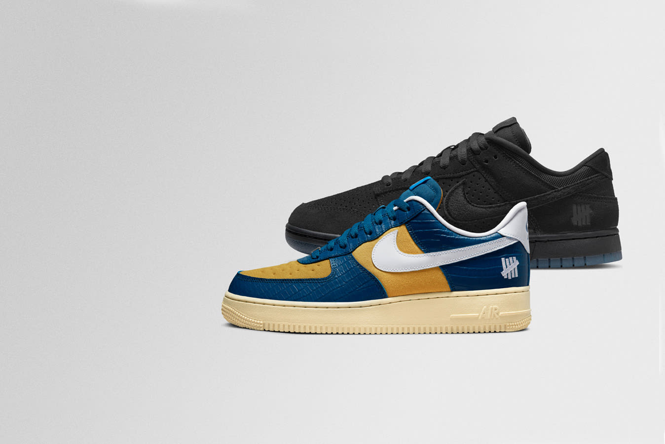 """Nike x UNDEFEATED """"Dunk vs. AF1"""" pack"""