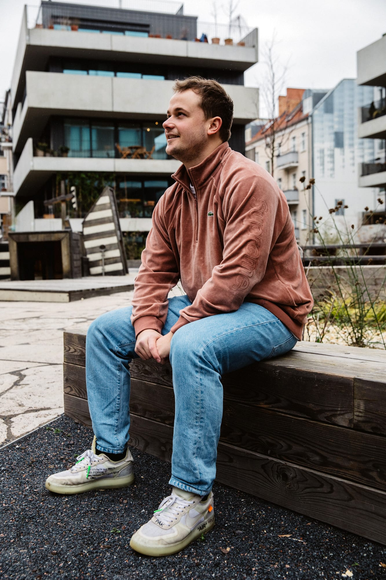 """Flight Case Sneakers: Fabian Gorsler at Home in Berlin, image features Off-White x Nike """"The Ten"""" Air Force 1"""
