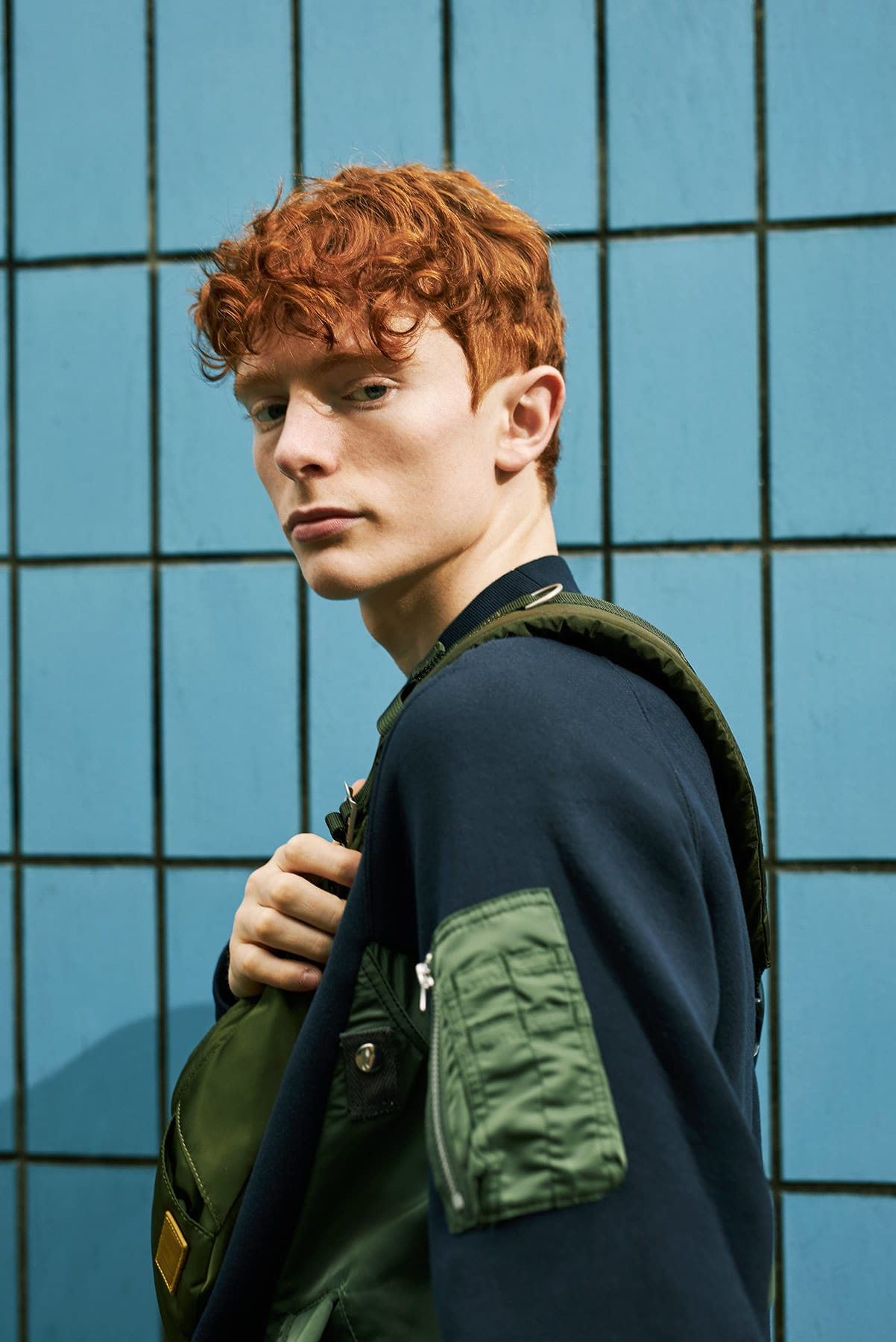 MA-1 Crew Sweat for END.'s Sacai editorial
