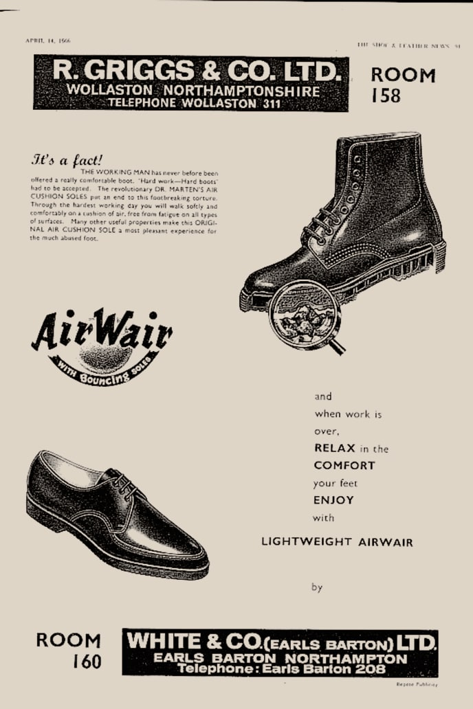An original advertisement for Dr. Martens' footwear