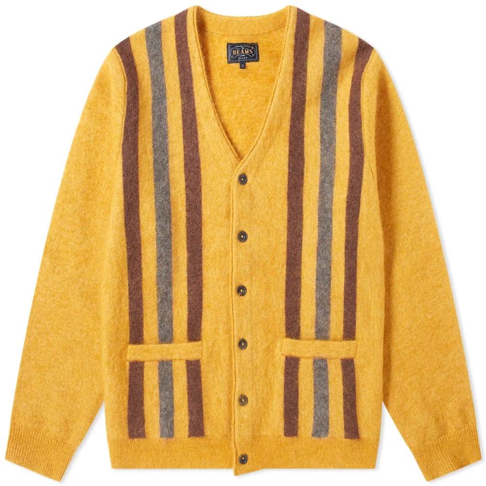 Beams Plus Striped Mohari Cardigan