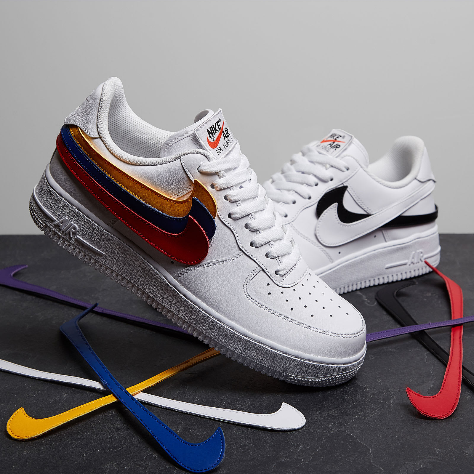 nike air force 1 swoosh velcro