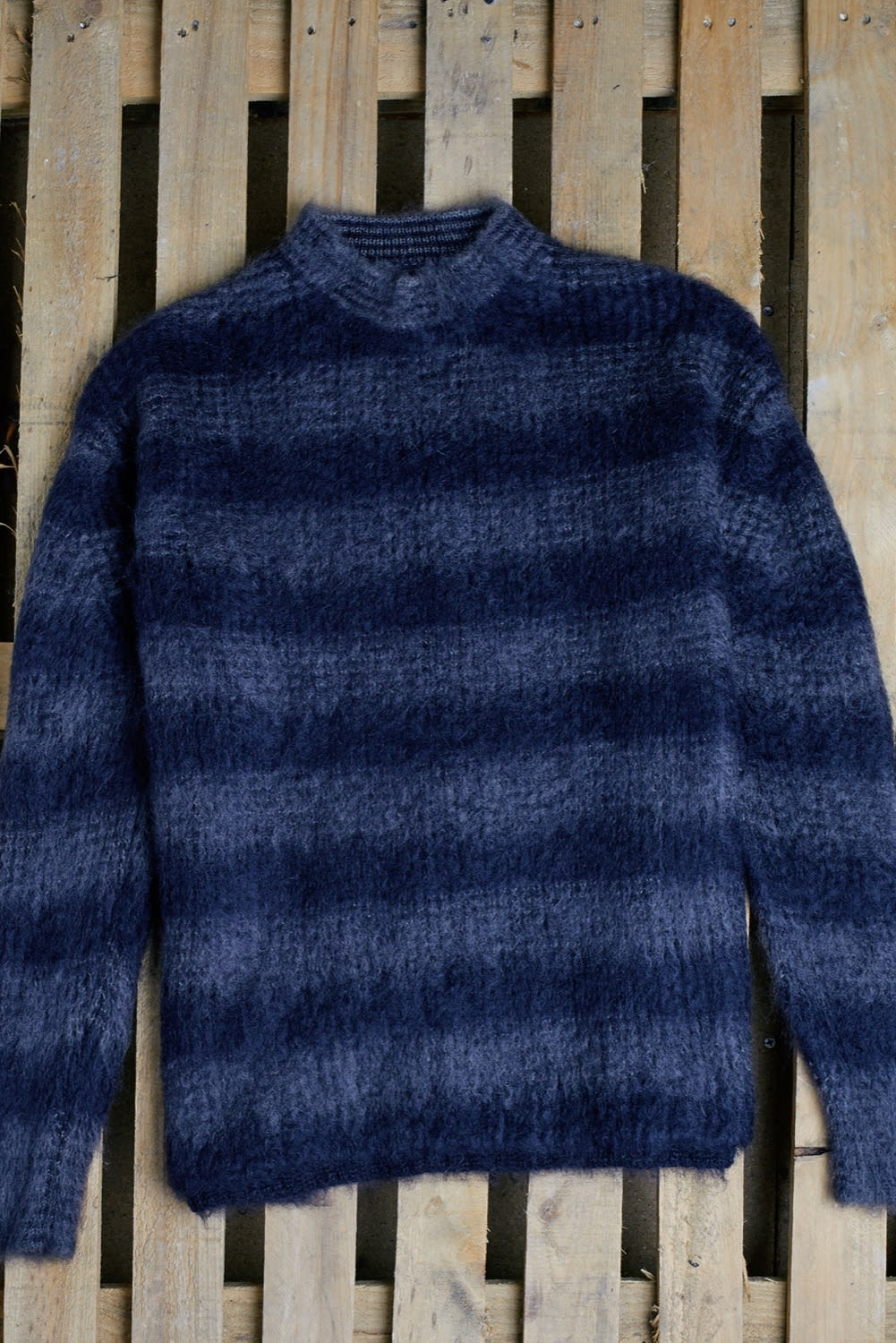 END. AW19 Required Item: Graphic Knitwear - Off-Model shot of Jil Sander Mohair knitted sweatshirt by END.